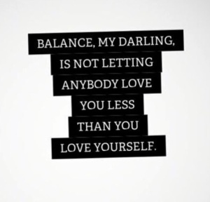 balance my darling