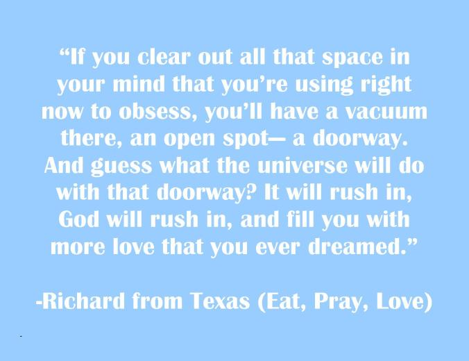 clear out the space - richard from texas