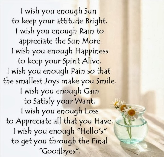 i wish you enough