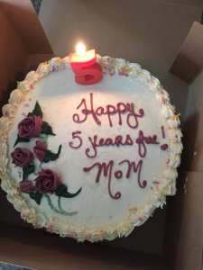 5 year cake